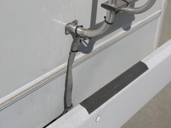 Ladder ground to frame.