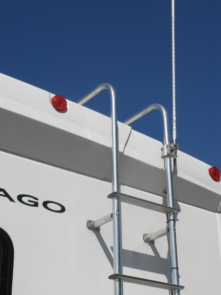 Ladder antenna mount.