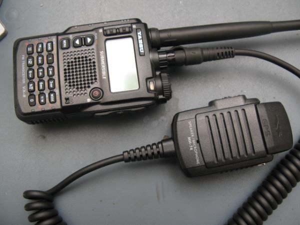Vx-8r with external speaker/mic and GPS attachment