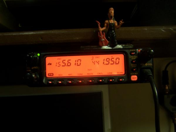 Yaesu Dual Band FT 8100 mounted remotely.
