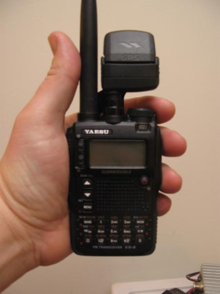 Radio with GPS attached