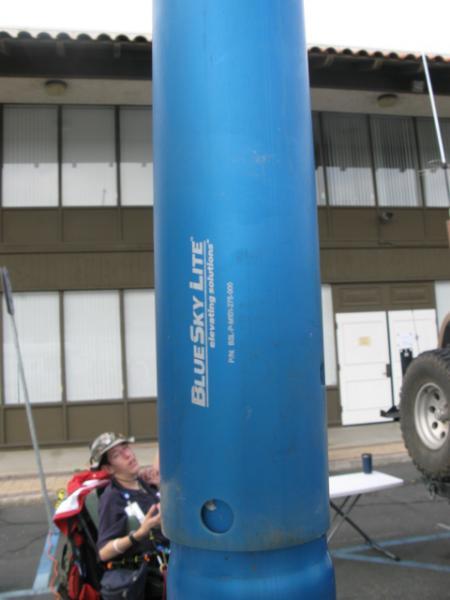 portable aluminum mast