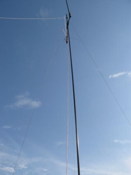 Carbon Fiber Portable Antenna Mast system - raised up 30 feet