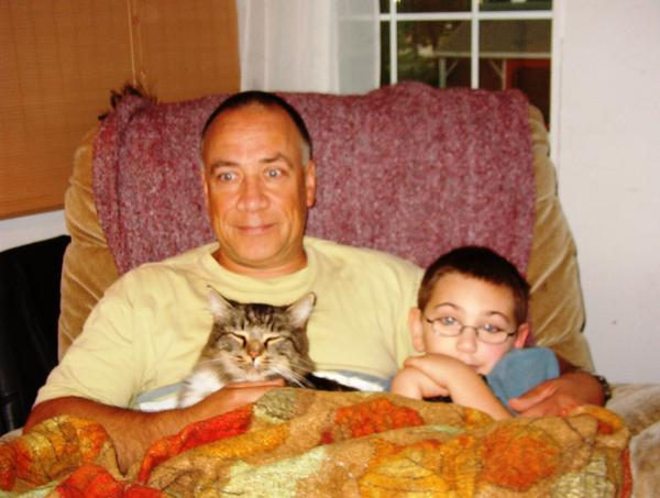 My two boys and me.