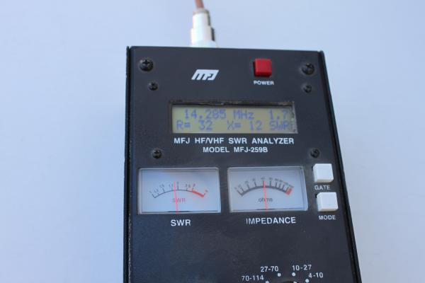 Analyzer reading installed at about 16 feet above RV