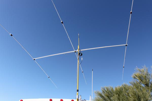 20 meter SuperAntenna YP-3 in the air
