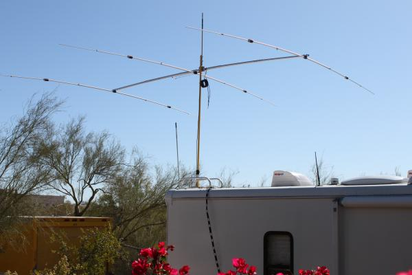 20 meter SuperAntenna YP-3 above the RV