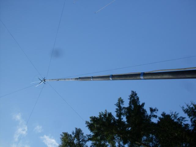 40 Foot Antenna Pole Pin Hinged At Base Tilt 008