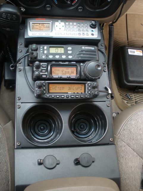 GRE PSR600 Scanner Motorola GTX 900Mhz Yaesu FT 857D Yaesu Ft 8900  Havis Shield console for Ford Explorer
