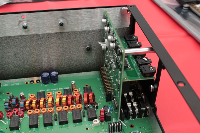 I/O boards attached to RF deck