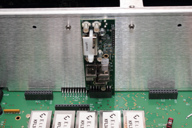 Reference Oscillator board installed behind display shield
