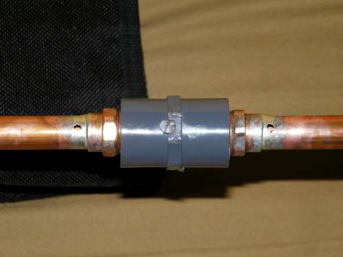 """1/8"""" Holes drilled for Upper Matching unit"""