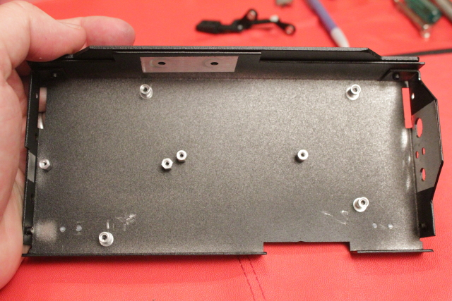 install standoffs on rear cover
