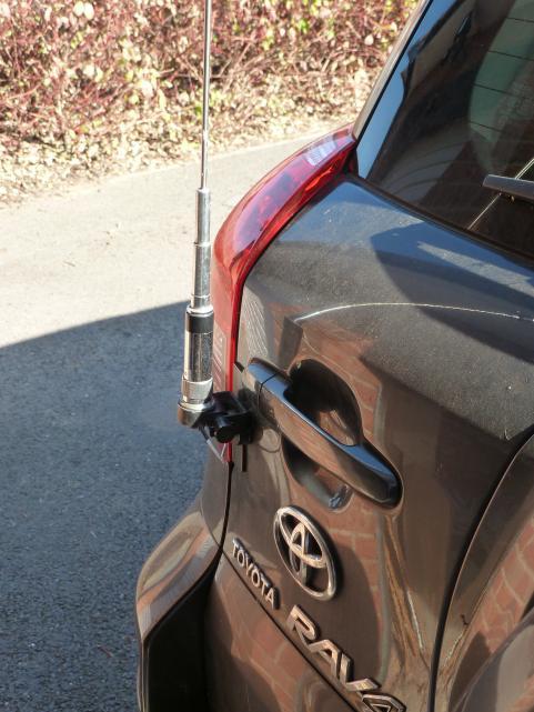 "Photo ""Antenna mounting on rear door"" in the album ""Toyota RAV4 mobile installation"" by G3TRH ..."