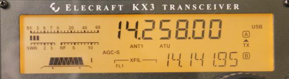 KX3 display