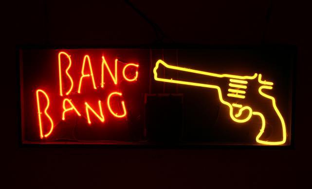 bang bang gun neon sign 022 B03 F