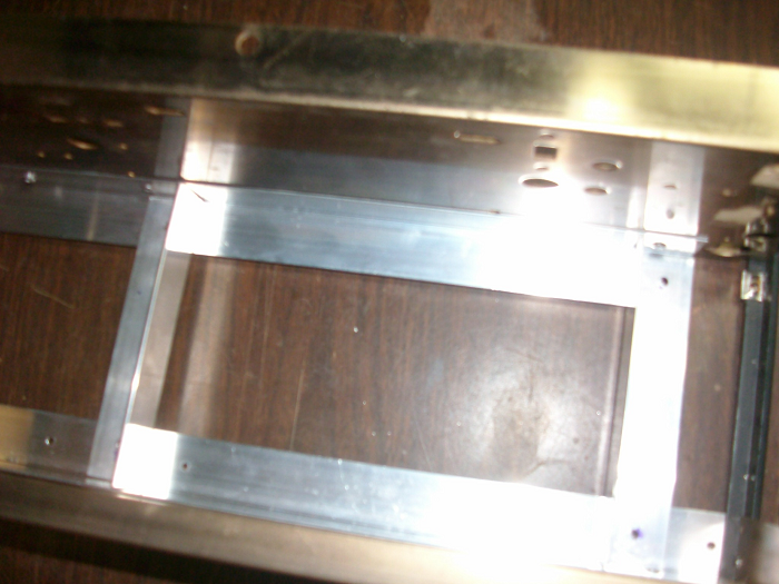 built a chassis to mount the HP supply out of aluminum angle stock