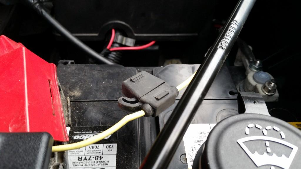 Battery wiring.