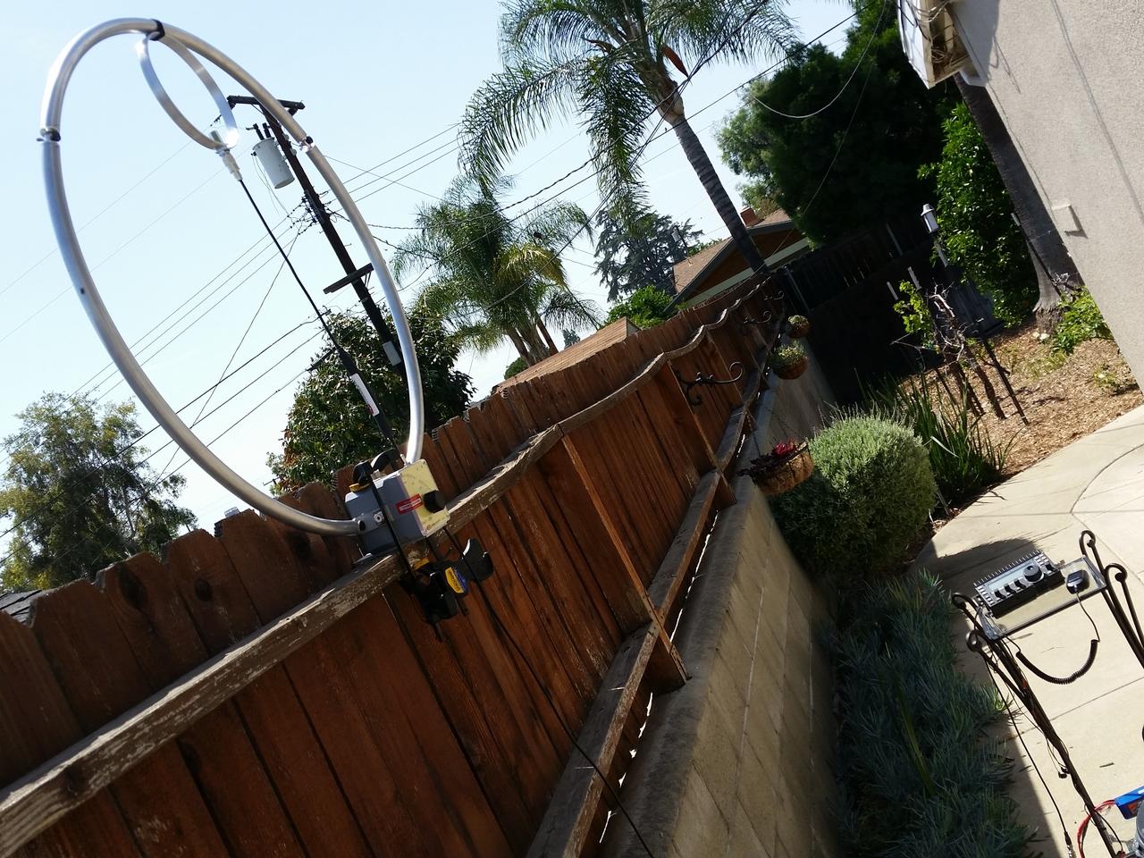 Chameleon F-loop on Fence with Elecraft KX3