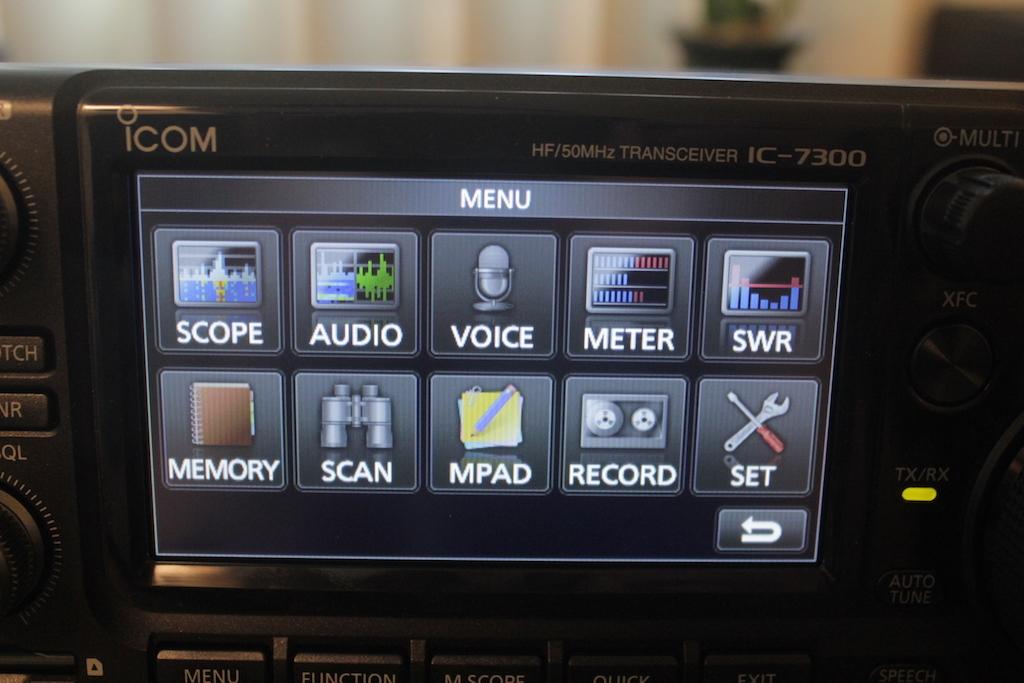 Icom-IC-7300-menu