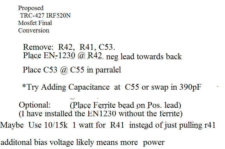 IRF520N mosfet conversion
