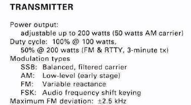 Power Amp Spec