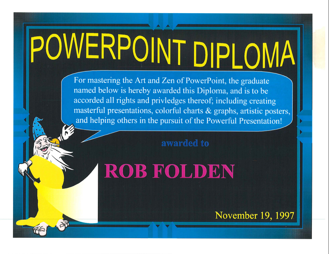 1997 - PowerPoint Diploma