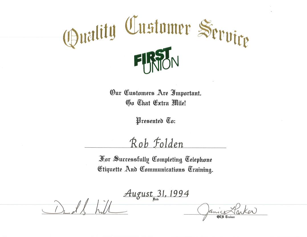 1994 - FU QCS Telephone Etiquette and Communications Training