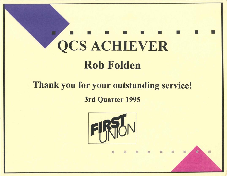 1995 - FU QCS Achiever