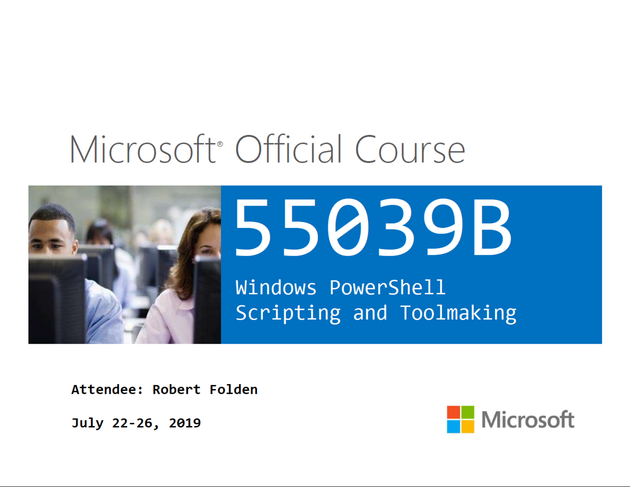 55039B Windows PowerShell Scripting And Toolmaking