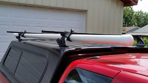 How do you carry 8' foot long antennas in a truck with 6' bed?